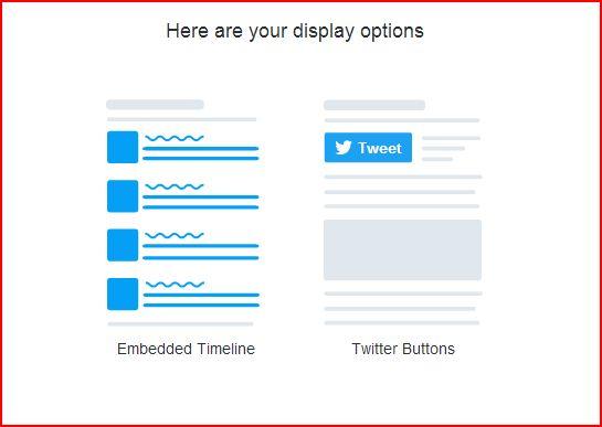 Widget di Twitter
